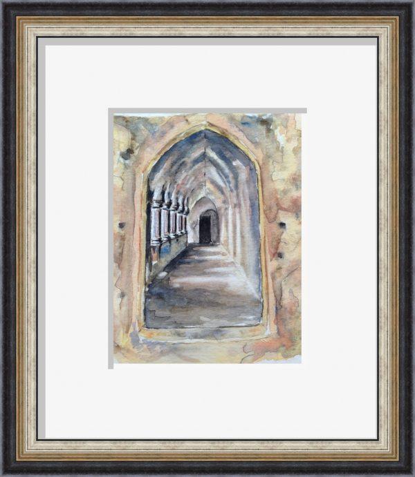 Cloister-framed